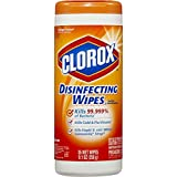 Clorox Disinfecting Wipes, Orange Fusion, 35-Count Canister (Pack of 12)