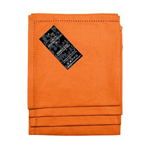 Homescapes servietten set 4 teilig orange unifarben 45 x - Servietten dekorativ falten ...