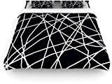 "Kess InHouse Trebam ""Paucina"" 104 by 88-Inch Crazy Lines Woven Duvet Cover, King/California King"
