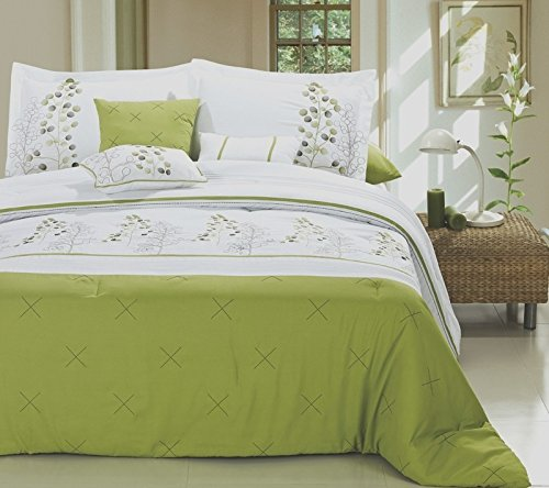Navy And Lime Green Bedding