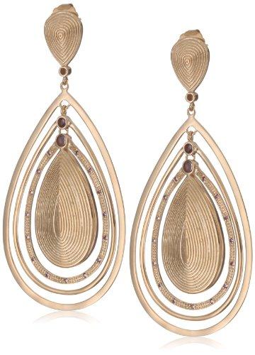 GALA by Daniela Swaebe Gypsy Rose Gold Big Teardrop Earrings