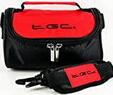 TGC ® Camera Case for Sony Cyber-shot RX100M2, DSC-RX100 II with shoulder strap and Carry Handle (Crimson Red & Black)