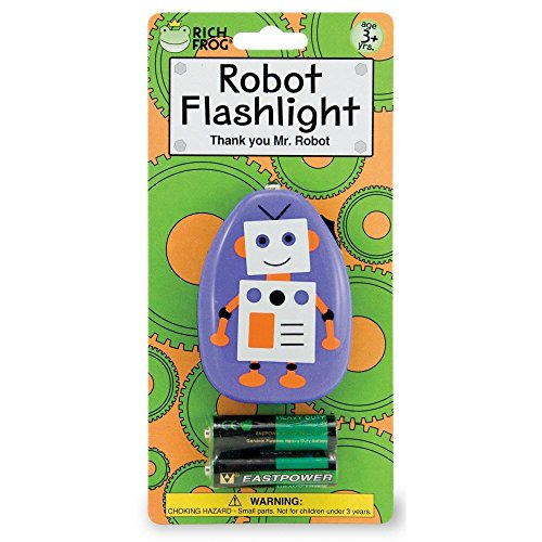 Rich Frog Robot Flashlight with Batteries