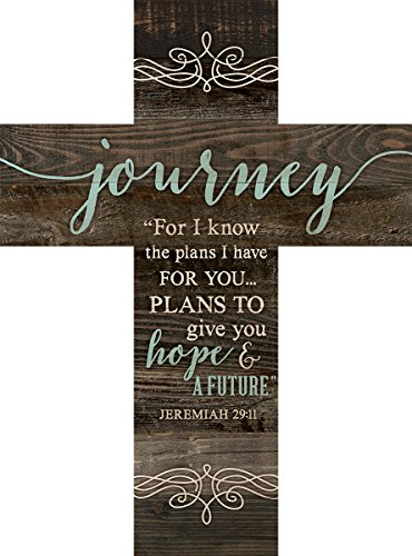 Journey Jeremiah 29:11 Rustic Dark 14 x 10 Wood Wall Art Cross Plaque