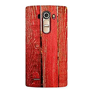 Ajay Enterprises Ft Red Bar Wood Prints Back Case Cover for LG G4