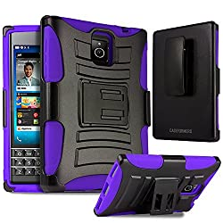 Blackberry Passport Case, CASEFORMERS Duo Armor PURPLE for Blackberry Passport Combo Case with Stand and Holster