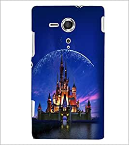 PrintDhaba Disney Castle D-2424 Back Case Cover for SONY XPERIA SP (Multi-Coloured)