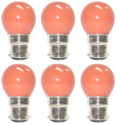 0.5W LED Bulbs (Orange, Pack of 6)