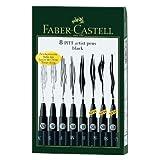 Faber-Castell Black Wallet - 8 Assorted Pitt Pen Nibs Art Set by Faber-Castell