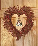 Heart Shaped Wreath with Interchangeable Seasonal Pendants