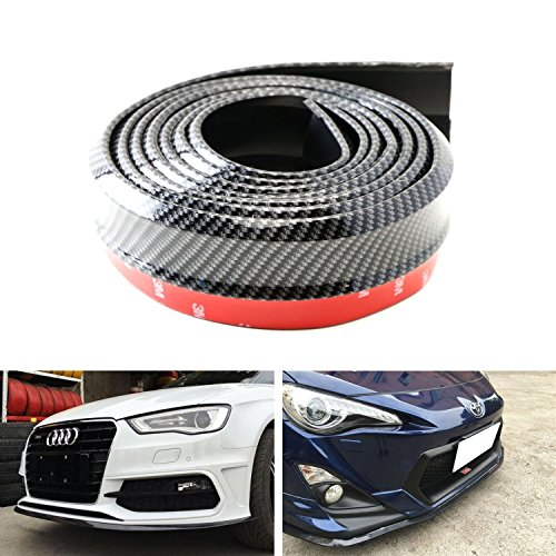 EJ 8.2 feet (2.5 meters) gm carbon-fiber front bumper spoiler lip, Roof Spoiler, body kit clip stickers, 100% waterproof protection (Honda Accord Body Kit compare prices)