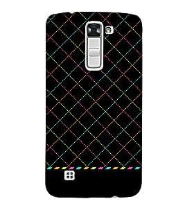 Cross Check Art Design 3D Hard Polycarbonate Designer Back Case Cover for LG K10 4G Dual