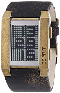 Esprit Herren-Armbanduhr Digital Quarz Future World Gold 4401972