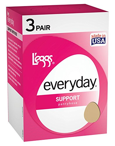 Legg's Control Top Support Panty Hose 3 Pair Pack, Nude, Size - A (Leggs Control Top Pantyhose compare prices)
