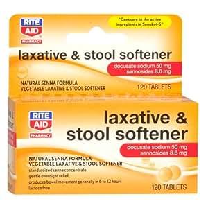 Amazon Com Rite Aid Laxative Amp Stool Softener Tablets