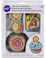 Wilton 415-8039 Flower Cupcake Decorating Kit