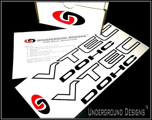 VTEC DOHC Vinyl Decal Sticker Import Tuner FLAT BLACK by Underground Designs (Vtec Honda Sticker compare prices)