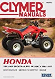 img - for Clymer Manuals Honda Trx250ex Sportrax and Trx250x 2001-2012 (Clymer Motorcycle Repair) book / textbook / text book