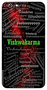 Vishwakarma (Architect Of The Universe) Name & Sign Printed All over customize & Personalized!! Protective back cover for your Smart Phone : Moto G-4-PLAY
