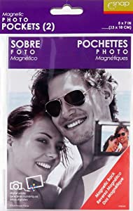 Snap Magnetic Photo Pockets 2-Pack, 5-Inch by 7-Inch