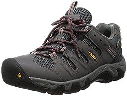 KEEN Men\'s Koven WP Shoe, Gargoyle/Red Dahlia, 10 M US