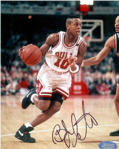 B.J. Armstrong Autographed/Hand Signed 8x10 Photo (Chicago Bulls) at Amazon.com