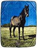 Northpoint Printed Raschel Animal Throw Black Beauty