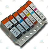 7 Chipped Compatible Canon PGI-5 & CLI-8 Ink Cartridges for Canon Pixma MP970 Printer