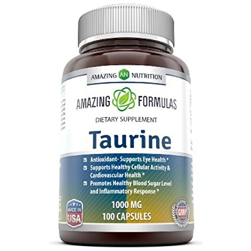 Amazing Nutrition Taurine 1000 Mg 100 Capsules - Pharmaceutical Grade - Antioxidant Amino Acid (1000 Mg Taurine compare prices)