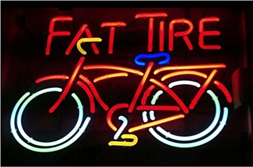 RaRe Fat Tire Bicyle Neon Signs Beer Neon Light Sign Real Glass Tube Bar Pub Game Room Decoration Handicrafted Super Bright 19x15 THE FASTEST FREE SHIPPING (Fat Tire Beer Sign compare prices)