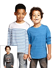 3 Pack Pure Cotton Deep Blue Sea T-Shirts