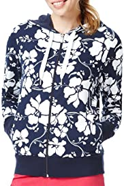 Cotton Rich Hooded Floral Tracksuit Sweatshirt [T51-0758-S]