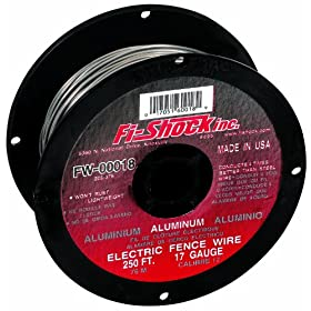 Fi-Shock FW-00018D 250-Feet 17 Gauge Spool Aluminum Wire