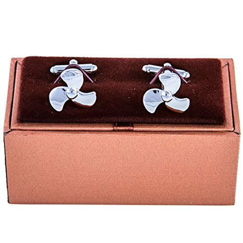 Propellor Propeller Ship Boat Cufflinks with a Presentation Gift Box