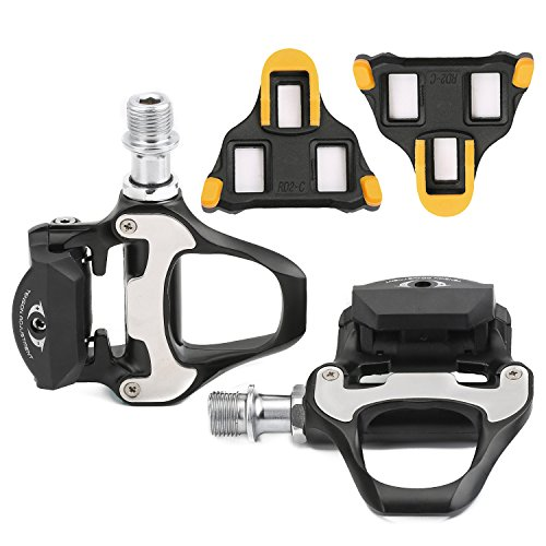 ColorGo Road Pedals With Cleats SPD-SL Pedal + 6 Degree Float Bike Cleats Set For Shimano Road Bicycle Cycling Systems (Cycling Shoe Cleat Set compare prices)