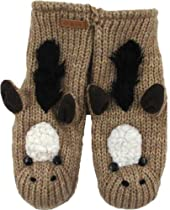 DeLux Horse Wool Animal Mittens
