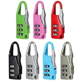 Mini Cute 3 Digit Resettable Combination Travel Luggage Suitcase Lock Padlock 1pcs