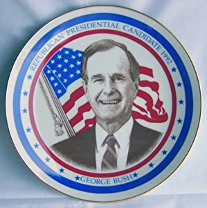 George W. Bush Republican Party Nominee 1992 Presidential Election Limited Edition Royal Windsor Commemorative Plate NEW in Original Box