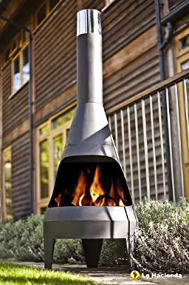 Canyon Extra Large 150cm High Black Steel Chimenea Chiminea Patio Heater