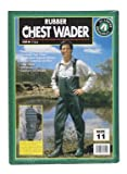 Academy Broadway Rubber Chest Wader 100 % Waterproof Vulcanized Rubber