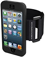 Armband for iPhone 4 / iPhone 4S ( Black ) - Model AB1 by Mediabridge (Part# AB1-I4-BLK ) - Premium Glass Screen Protector Included ($7.99 Value)