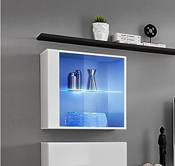 Muebles Bonitos – Mueble colgante modelo Berit LD 60x60 en color blanco con LED