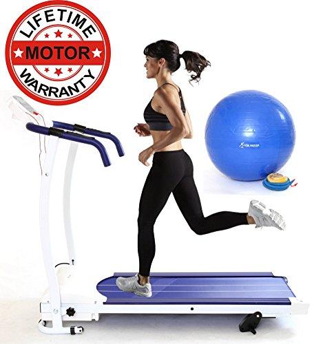 Gym Master 2016 1100W Motorised Treadmill 12KMH MODEL WITH FREE GYM BALL...