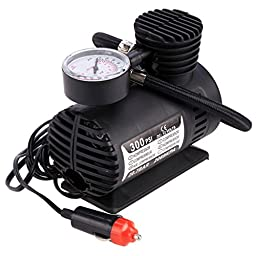 Gracelove 300 PSI Mini Air Compressor 12V Emergency Car and Truck Tire Pump Inflator