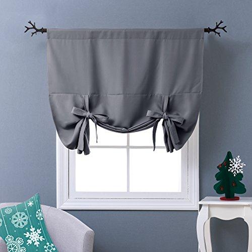 "Tenda termica isolante oscurante grigio ponydance-Tie Up paralume, Tessuto, Grey, W46"" X L63"""
