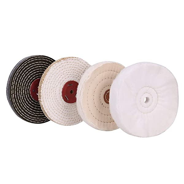 5-Inch Cotton Buffing Wheel Polishing for Bench Grinder Tool 1//2-Inch Arbor Hole