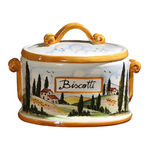 Biscotti Toscana Oval Jar (Oval Cookie Jar compare prices)