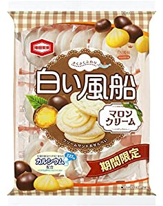 亀田製菓 白い風船マロンクリーム 18枚×12袋