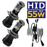 HID H4 Hi/Lo リレーレス ヘッドライト フルキット ハイロー切り替え 55w 6000k