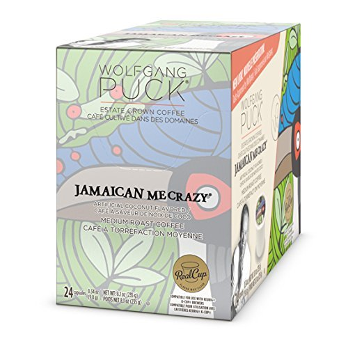 Wolfgang Puck Jamaican Me Crazy Flavored Coffee Single Serve Cups for Keurig, 24 Count (Crazy Flavored Coffee K Cups compare prices)